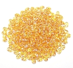 7.5 Grams - Superduo Beads - Topaz White Luster