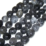 1 Strand of Semiprecious Gemstone Large Nugget Beads - Tourmalated Quartz