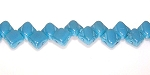40 Czech Glass Silky 2-Hole 6mm Beads - Blue Turquoise