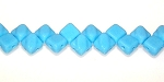 40 Czech Glass Silky 2-Hole 6mm Beads - Turquoise