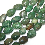 1 Strand of Semiprecious Gemstone Large Nugget Beads - Verdite African Jade