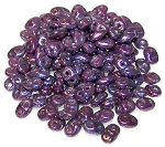 7.5 Grams - Superduo Beads - Nebula Violet