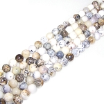 1 Strand of 8mm Round Semiprecious Gemstone Beads - White Opal