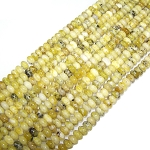 1 Dozen Yellow Matrix Jasper 8x5mm Puff Rondelle Semiprecious Gemstone Beads