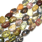 1 Strand of Semiprecious Gemstone Large Nugget Beads - Yellow Matrix Jasper
