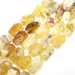 1 Strand of Semiprecious Gemstone Large Nugget Beads - Yellow Opal