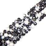 1 Strand of 8mm Round Semiprecious Gemstone Beads - Zebra Jasper