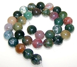 6 Fancy Jasper 12mm Round Semiprecious Gemstone Beads