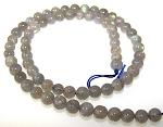 1 Dozen 6mm Round Semiprecious Gemstone Beads - Labradorite