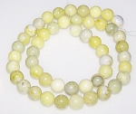 1 Strand of 8mm Round Semiprecious Gemstone Beads - Lemon Jasper