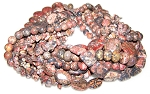 Leopardskin Jasper Semiprecious Gemstone Beads - 10 Strand Set