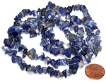 1 Strand of Semiprecious Gemstone Chip Beads - Sodalite