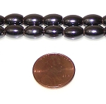 50 - 6x9mm Rice-Shaped Magnetic Hematite Beads