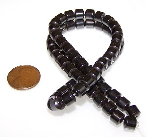 50 - 6x6mm Barrel-Shaped Magnetic Hematite Beads