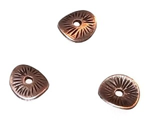 25 Antique Copper 9mm Curved Discs