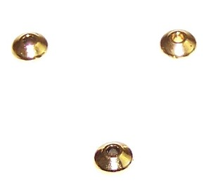 100 Antique Gold-Plated 3x6mm Metal Disc Beads