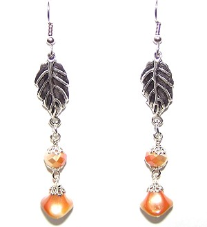 Apricot Luster Earrings Beaded Jewelry Making Kit