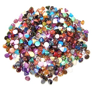 10 Grams of Czech Glass 4mm Button Beads - Random Color Mix
