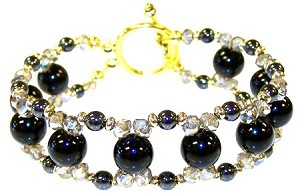 Onyx and Hematite Beauty Bracelet Beaded Jewelry Making Kit