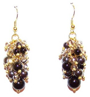 Onyx and Hematite Beauty Earrings Beaded Jewelry Making Kit