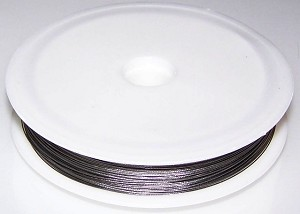 1 - 50 Meter Spool of 0.35mm Buddy Braids Silver Colored Wire