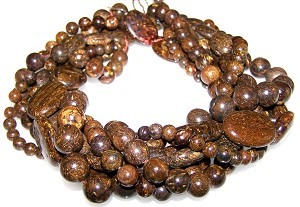Bronzite Semiprecious Gemstone Beads - 6 Strand Set