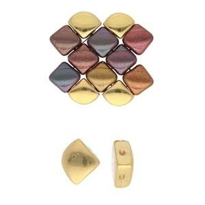 4 Gold-Plated Kardiani Silky Side Bead