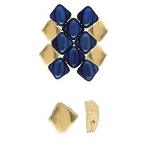 4 Gold-Plated Kaloni Silky Side Bead