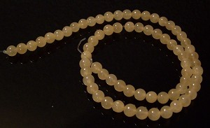 1 Dozen 6mm Round Semiprecious Gemstone Beads - Calcite