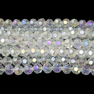1 Dozen 10mm Glass Crystal Rounds - Crystal AB