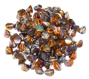 7.5 Grams of Czech 7mm Pinch Beads - Crystal Magic Copper