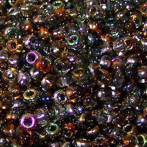 7.5 Grams Of Miyuki Czech Unions Size 8 Seed Beads - Crystal Magic Copper
