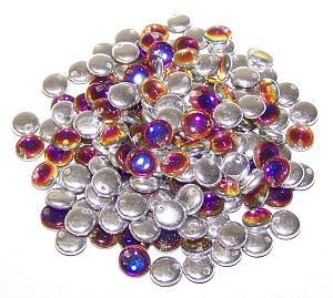 7.5 Grams of Czech 1-Hole 6mm Lentil Beads - Crystal Volcano