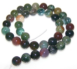 1 Dozen Fancy Jasper 10mm Round Semiprecious Gemstone Beads
