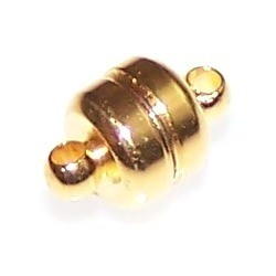 2 Gold-Plated 7x12mm Super Strong Magnetic Clasps