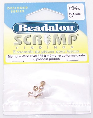Beadalon Scrimp 3.5mm Oval Gold Plated Crimp Beads
