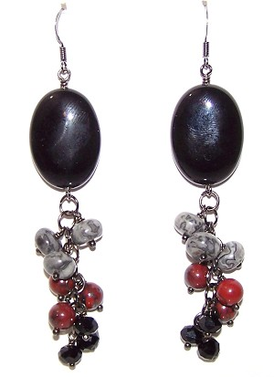 Jasper Embers Earrings Beaded Jewelry Making Kit