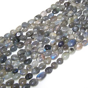 1 Dozen Labradorite 7x10mm Irregular Nugget Semiprecious Gemstone Beads
