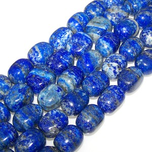 1 Strand of Semiprecious Gemstone Large Nugget Beads - Lapis Lazuli
