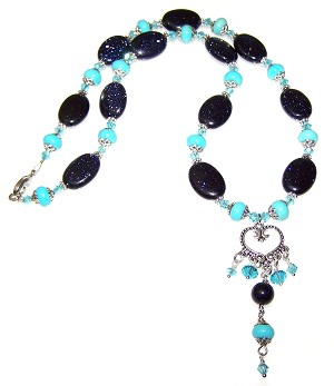 Moons Embrace Necklace Beaded Jewelry Making Kit