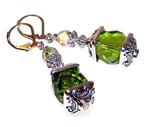 Olivine Radiance Earrings Beaded Jewelry Making Kit