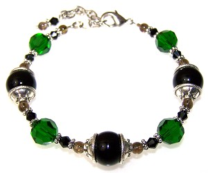Onyx Forest Bracelet Beaded Jewelry Making Kit