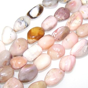 1 Strand of Semiprecious Gemstone Large Nugget Beads - Pink Opal