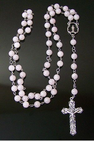 Rose Quartz Beaded Rosary Making Kit