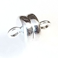 5 Silver-Plated 6x4mm Super Strong Magnetic Clasps