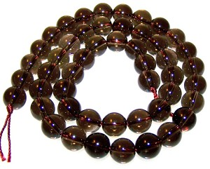 1 Strand of 8mm Round Semiprecious Gemstone Beads - Smoky Quartz