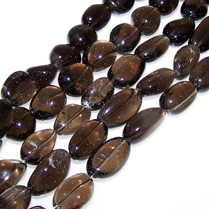 1 Strand of Semiprecious Gemstone Large Nugget Beads - Smoky Quartz