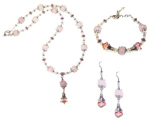 Strawberry Lemonade Beaded Jewelry Making Set