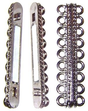 1 Gunmetal 55x14mm Super Strong 9-Strand Magnetic Clasp
