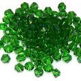 50 Emerald 4mm Glass Crystal Bicones